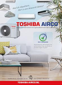 De actiefolder van Toshiba Airconditioning in de regio Noord-Limburg.
